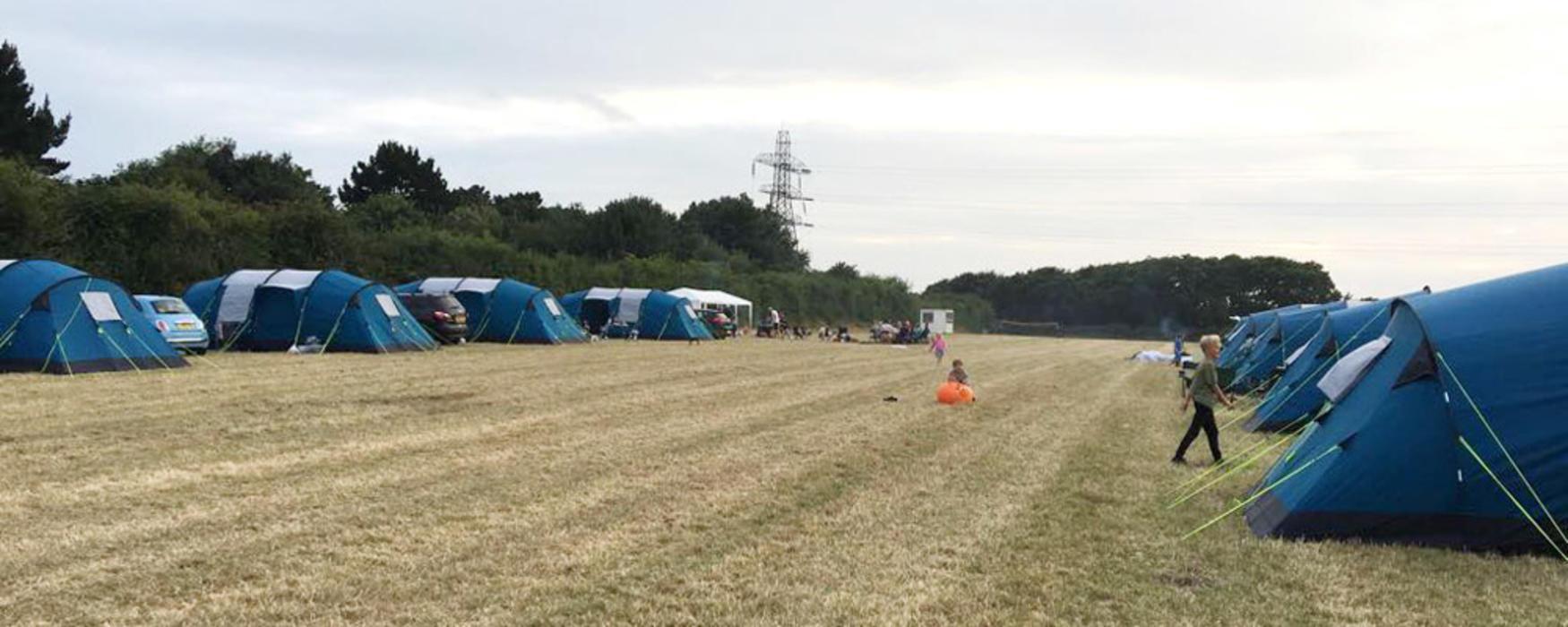& Pre-erected Tents | Lepe Meadows