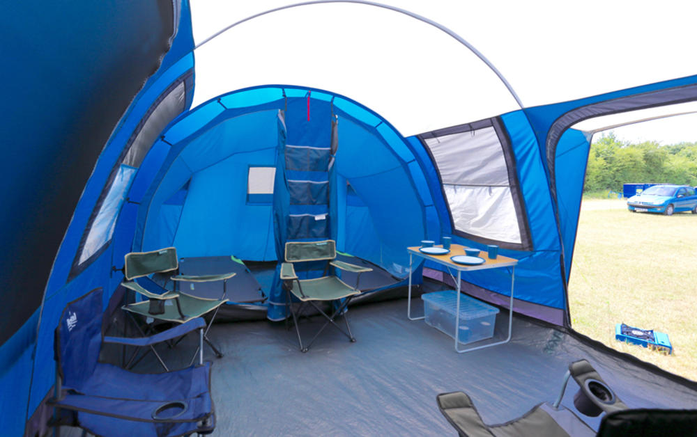 camping pre erected tents uk